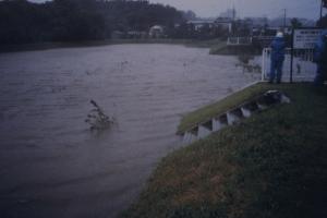 梅田在河上玩兒水地洪水時的圖片