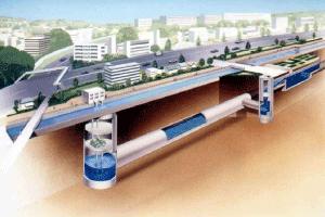 現在井川地下調節池塘形象圖的圖片