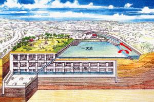 宇田在河上玩兒水地的圖片