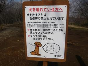 Enlightenment signboard including pasturage of dog