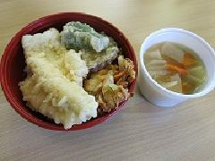 Photograph of tempura bowl using the ground conger eel