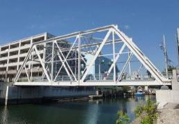 Yokohama-shi authorization landmark architecture Kasumi Bridge