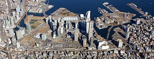 Minato Mirai 21 district aerial photography image