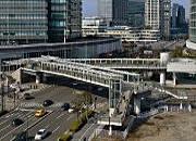 Minato Mirai el puente pedestre