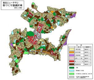 港北新城城鎮建設協議區域圖的說明
