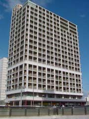 Photograph of city area redevelopment building whole view