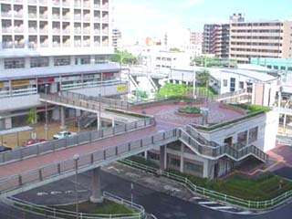 Photograph of East Exit station square whole view
