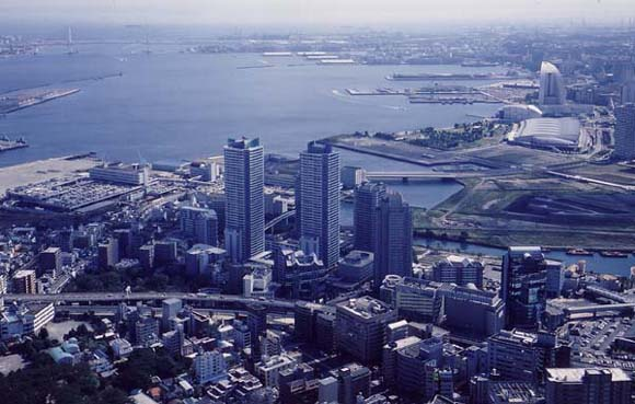 港灣 port side 地區的航拍的照片