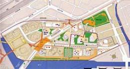 橫濱港灣地區開發形象圖的圖片