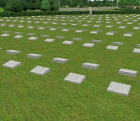 Above ground part image photograph of lawn type cinerarium facility