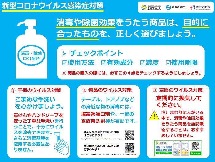 Flyer about disinfection