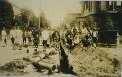 Image of state of water pipe construction of around 1897