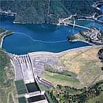 단자와 호수와 미호 댐의 사진