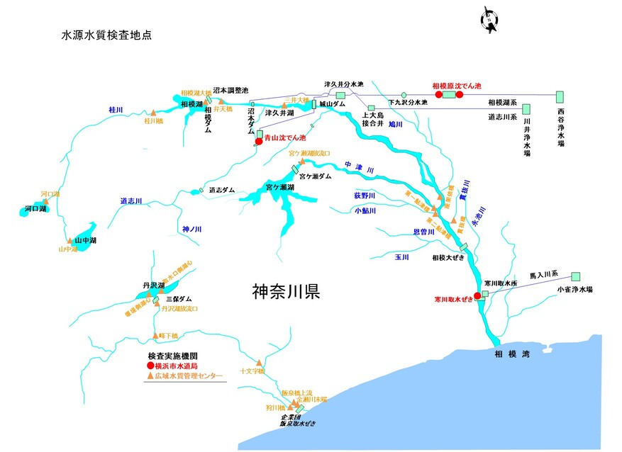 Map of inspection point of water source