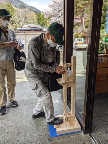 시민 자원봉사에 의한 도시 수원림의 간벌 활동의 모습