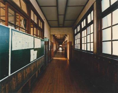 Photograph of corridor of the branch school era