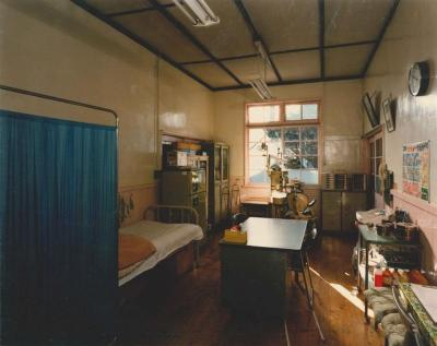 Photograph (current office) of health room of the branch school era