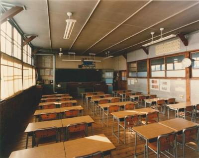 Photograph (current reference library) of classroom of the branch school era