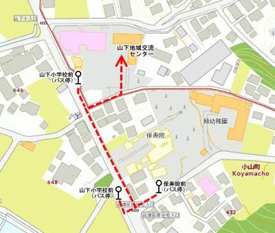 Guidance map to Yamashita area interchange center