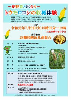 Flyer of crop experience