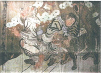 在照片點擊對門楣杉山神社的繪馬的說明