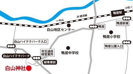 白山神社地圖
