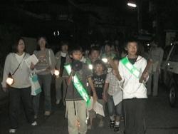 Anti-crime program patrol scenery by Tsurugaoka Neighborhood Associations child society