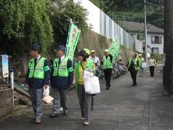 Anti-crime program patrol scenery by Horinouchi Mutsumicho alliance Neighborhood Associations