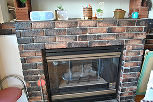 To cafe as for the fireplace