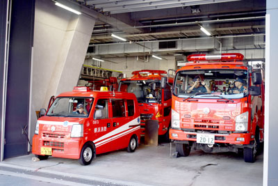 Fire engine of Minami fire department