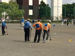 그라운드 골프 대회의 모습