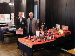 Photograph of ward old ream Chairperson Matsuzawa and Mayor Takemae