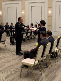 Miyako Endo who receives testimonial