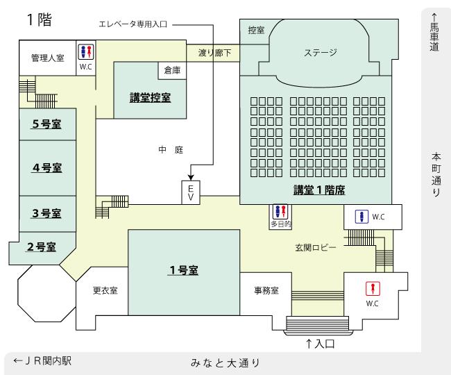 1층의 관내 맵