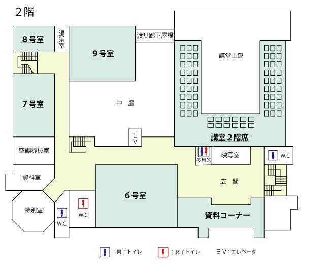 2층의 관내 맵