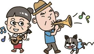 La ilustración que disfruto la música