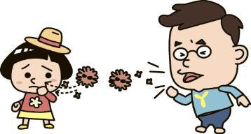La figura que transmite el contacto por haber estornudado