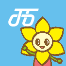 Mascot character nishimarochan of Nishi Ward