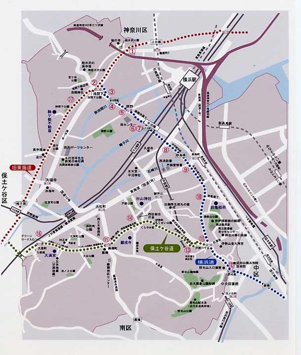 历史街道的地图