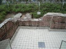 Fotografía de los segundos restos de Estación de Yokohama de generación de una estructura antigua