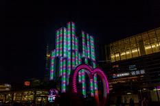 在横滨高岛屋的前面的彩灯