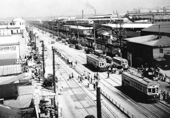 昭和30年代的櫻木町站附近的照片