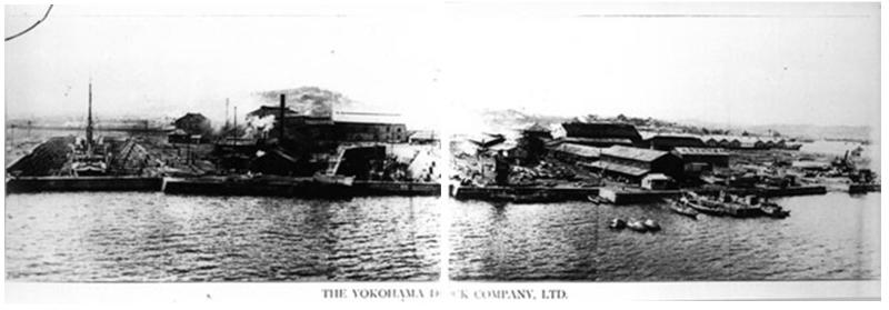 1900年代初期的橫濱碼頭公司的照片