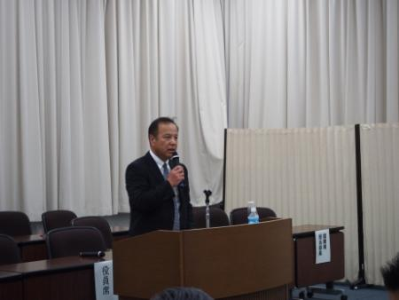Image of lecture of Counselor Okada
