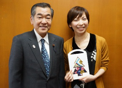 Image of Chairperson Sato and Yo Nakamura