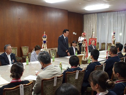 Image of Chairperson Kajimura greetings