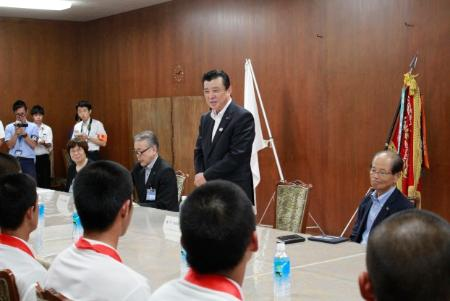 Image of Chairperson Kajimura greetings