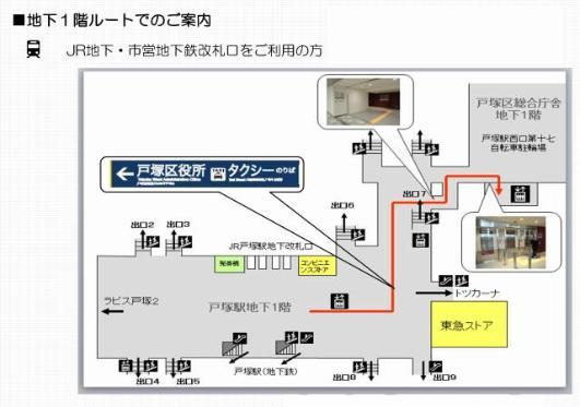 Guía por la ruta de primer piso bajo la tierra