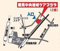 Tsurumichuuo comunidad cuidado plaza mapa