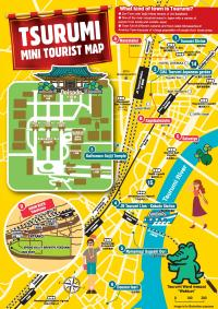 Turismo en mini-mapa de Tsurumi (versión inglesa)